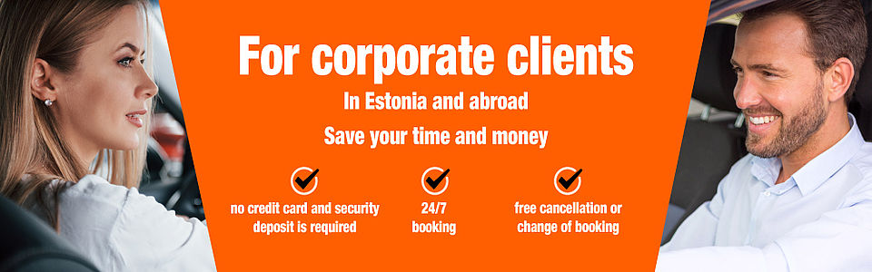 Car rental for your company needs in Estonia and on business trips abroad | Sixt rent a car